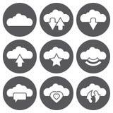 Διανυσματικά άσπρα σύννεφα Ιστός εικονιδίων και κινητός Στοκ φωτογραφίες με δικαίωμα ελεύθερης χρήσης