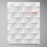 Διανυσματικά άσπρα τετράγωνα. Περίληψη backround Στοκ εικόνα με δικαίωμα ελεύθερης χρήσης