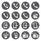 Διανυσματικά άσπρα τηλεφωνικά εικονίδια καθορισμένα Στοκ φωτογραφία με δικαίωμα ελεύθερης χρήσης