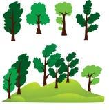 Διανυσματικά δέντρα Τοπίο στον αέρα Στοκ Εικόνες