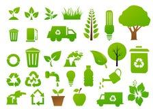Διανυσματικά ανακύκλωσης σημάδια Στοκ Φωτογραφίες