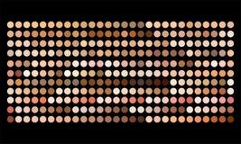 Διανυσματικά ανθρώπινα swatches παλετών χρώματος τόνου δερμάτων ελεύθερη απεικόνιση δικαιώματος