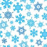 Διανυσματικά ανοικτό μπλε συρμένα χέρι christmass snowflakes επαναλαμβάνουν το άνευ ραφής υπόβαθρο σχεδίων Μπορέστε να χρησιμοποι Στοκ Φωτογραφία