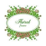 Διανυσματικά απομονωμένα φύλλο στοιχεία λουλουδιών πλαισίων μορφής απεικόνισης ελεύθερη απεικόνιση δικαιώματος