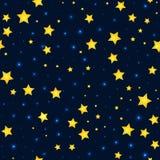 Διανυσματικά αστέρια κινούμενων σχεδίων και σχέδιο ουρανού με το σπινθήρισμα ελεύθερη απεικόνιση δικαιώματος