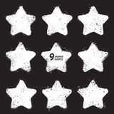 Διανυσματικά αστέρια Grunge Ελεύθερη απεικόνιση δικαιώματος