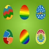 Διανυσματικά αυγά καθορισμένα Στοκ εικόνα με δικαίωμα ελεύθερης χρήσης