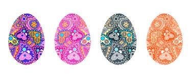 Διανυσματικά αυγά Πάσχας καθορισμένα Στοκ εικόνες με δικαίωμα ελεύθερης χρήσης