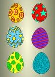 Διανυσματικά αυγά Πάσχας Στοκ εικόνες με δικαίωμα ελεύθερης χρήσης