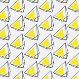 Διανυσματικά αφηρημένα απλά γεωμετρικά σημάδια Κίτρινο μαύρο γραφικό πρότυπο Σύγχρονη αφίσα τριγώνων εμβλημάτων καθιερώνουσα τη μ ελεύθερη απεικόνιση δικαιώματος