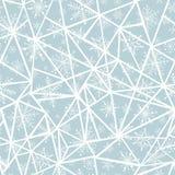 Διανυσματικά αφηρημένα ασημένια γκρίζα snowflakes christmass στα τρίγωνα επαναλαμβάνουν το άνευ ραφής υπόβαθρο σχεδίων μπορέστε ν Στοκ φωτογραφία με δικαίωμα ελεύθερης χρήσης