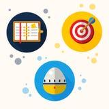 Διανυσματικά αφηρημένα μόνα διοικητικά εικονίδια Στοκ εικόνες με δικαίωμα ελεύθερης χρήσης