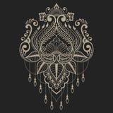 Διανυσματικά αφηρημένα floral στοιχεία στο ινδικό ύφος mehndi Αφηρημένη henna floral διανυσματική απεικόνιση διάνυσμα εικόνας απε Στοκ φωτογραφία με δικαίωμα ελεύθερης χρήσης