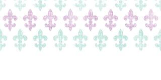 Διανυσματικά αφηρημένα textile fleur de lis λωρίδες ελεύθερη απεικόνιση δικαιώματος