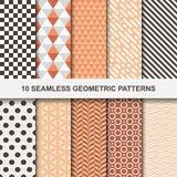 Διανυσματικά γεωμετρικά σχέδια - άνευ ραφής Στοκ Εικόνες