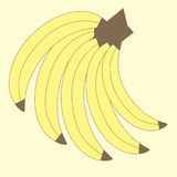Διανυσματικά γραφικά φρούτα Απεικόνιση των μπανανών Στοκ Φωτογραφία