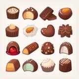 Διανυσματικά γλυκά σοκολάτας ελεύθερη απεικόνιση δικαιώματος