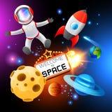 Διανυσματικά διαστημικά στοιχεία Στοκ εικόνα με δικαίωμα ελεύθερης χρήσης