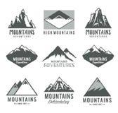 Διανυσματικά εικονίδια βουνών ελεύθερη απεικόνιση δικαιώματος