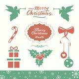 Διανυσματικά εικονίδια διακοπών Χριστουγέννων απεικόνιση αποθεμάτων