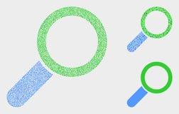 Διανυσματικά εικονίδια εργαλείων Magnifier σημείων διανυσματική απεικόνιση