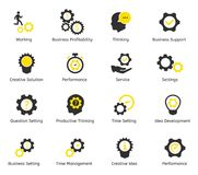 Διανυσματικά εικονίδια χρονικής διαχείρισης και CEO Στοκ φωτογραφία με δικαίωμα ελεύθερης χρήσης