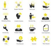 Διανυσματικά εικονίδια CEO και διαχείρισης Στοκ Φωτογραφίες