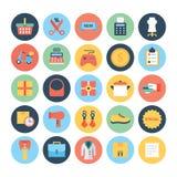 Διανυσματικά εικονίδια 5 αγορών Στοκ Εικόνα