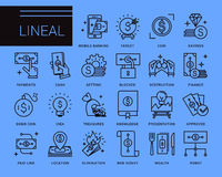 Διανυσματικά εικονίδια γραμμών σε ένα σύγχρονο ύφος Στοκ εικόνες με δικαίωμα ελεύθερης χρήσης