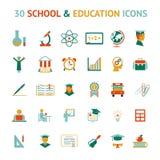 Διανυσματικά 30 εικονίδια εκπαίδευσης Στοκ φωτογραφία με δικαίωμα ελεύθερης χρήσης
