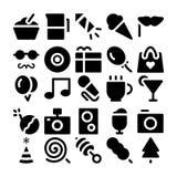 Διανυσματικά εικονίδια 2 εορτασμού και κόμματος Στοκ Εικόνες