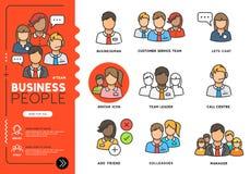 Διανυσματικά εικονίδια επιχειρηματιών ελεύθερη απεικόνιση δικαιώματος