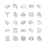 Διανυσματικά εικονίδια κρέατος και ψαριών Στοκ εικόνα με δικαίωμα ελεύθερης χρήσης
