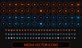 Διανυσματικά εικονίδια μέσων Στοκ εικόνες με δικαίωμα ελεύθερης χρήσης