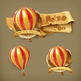 Διανυσματικά εικονίδια μπαλονιών αέρα ελεύθερη απεικόνιση δικαιώματος