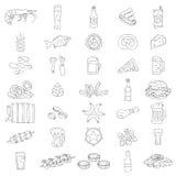 Διανυσματικά εικονίδια μπύρας Στοκ Εικόνες