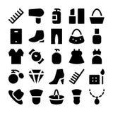 Διανυσματικά εικονίδια 4 μόδας Στοκ Εικόνα