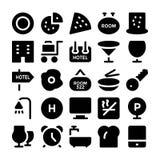 Διανυσματικά εικονίδια 11 ξενοδοχείων & εστιατορίων Στοκ Φωτογραφία