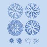 Διανυσματικά εικονίδια λουλουδιών Στοκ εικόνα με δικαίωμα ελεύθερης χρήσης
