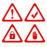 Διανυσματικά εικονίδια προστασίας διανυσματική απεικόνιση