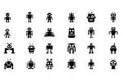Διανυσματικά εικονίδια 2 ρομπότ Στοκ Εικόνα