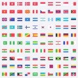Διανυσματικά εικονίδια σημαιών διανυσματική απεικόνιση