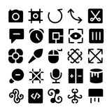 Διανυσματικά εικονίδια 12 σχεδίου & ανάπτυξης Στοκ Εικόνα