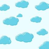 Διανυσματικά εικονίδια σύννεφων Στοκ φωτογραφία με δικαίωμα ελεύθερης χρήσης