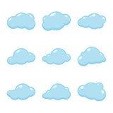 Διανυσματικά εικονίδια σύννεφων Στοκ Φωτογραφία