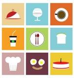 Διανυσματικά εικονίδια τροφίμων Στοκ φωτογραφίες με δικαίωμα ελεύθερης χρήσης
