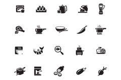 Διανυσματικά εικονίδια 9 τροφίμων Στοκ εικόνα με δικαίωμα ελεύθερης χρήσης