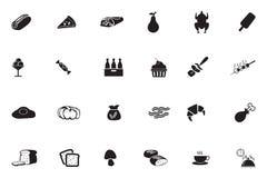 Διανυσματικά εικονίδια 7 τροφίμων Στοκ Εικόνες