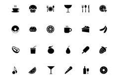 Διανυσματικά εικονίδια 1 τροφίμων Στοκ Εικόνα
