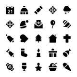 Διανυσματικά εικονίδια 1 Χριστουγέννων Στοκ Εικόνες